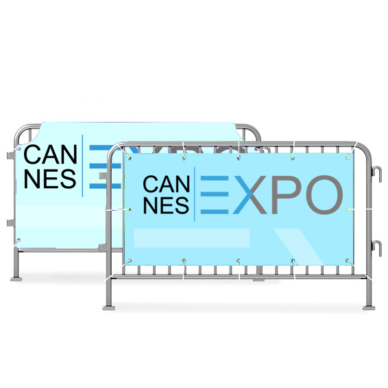 barrier covers banners - Printed Banners for Barriers Cannes, Nice & Monaco